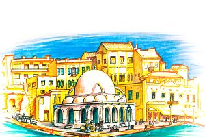 Kucuk Hasan Pasha Mosque in Chania, Crete, Greece