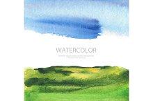 watercolor landscape paint