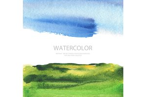 watercolor landscape paint