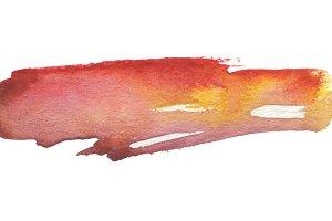 watercolor brush strokes paint