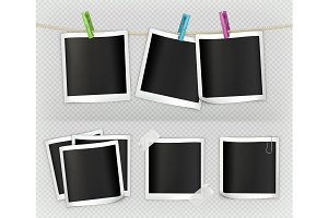 Photo frame vector set