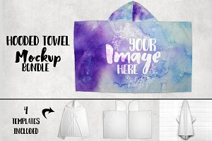 Hooded Towel Mockup Bundle