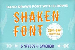 [30% off!] Shaken Font 5 Styles