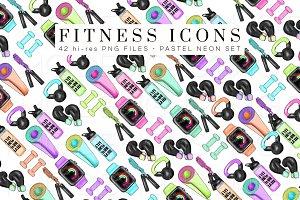 Fitness Icons Clip Art Set