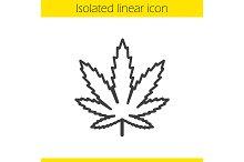 Marijuana leaf icon. Vector
