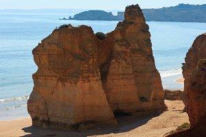 Praia dos Tres Castelos, Portugal.