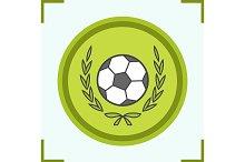 Football championship icon. Vector