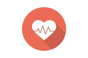 Heartbeat icon. Vector
