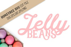 Jelly Beans Silhouette cut file