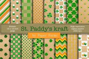 St. Patrick's kraft digital paper