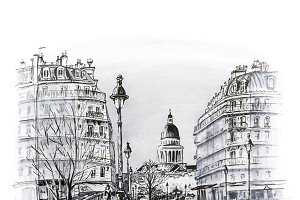 Paris in the winter morning, France
