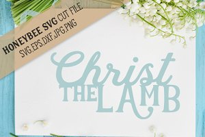 Christ The Lamb Easter cut file