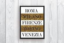 Wall art Italian quote Home decor
