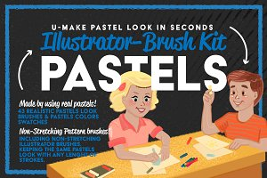 Pastels Illustrator Brush-Kit