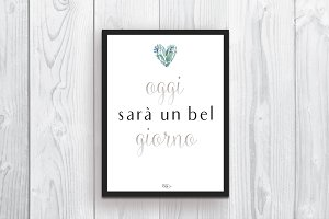 Wall art Italian quote Home decor
