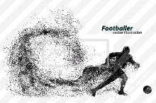 Silhouette of football player
