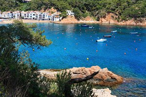 Costa Brava summer sea coast