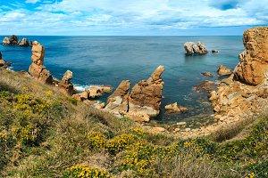Arnia Beach coastline