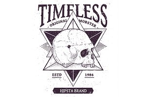 Timeless | Vector Dotwork Skull