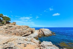 Costa Brava summer sea coast