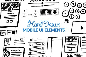 Hand Drawn Mobile UI Elements Kit