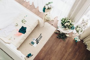 Bride's morning room, preparation for ceremony