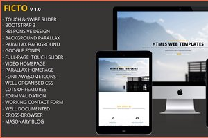 Ficto-Single Page Responsive Theme