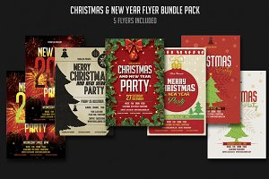 Christmas & New year Flyer Bundle