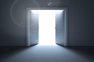 Doors opening revealing light