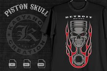 Piston skull