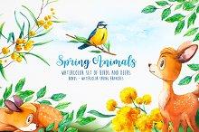 Spring Animals. Watercolor.
