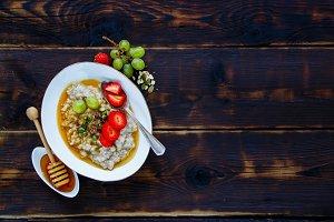 Homemade oatmeal porridge