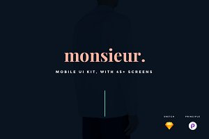 monsieur. Mobile E-commerce UI Kit