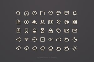 40 Lined Icons