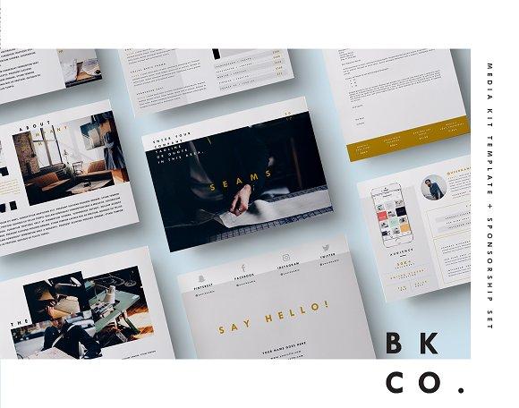 Blog Media Kit + Sponsorship | 8 Pgs ~ Instagram Templates ...