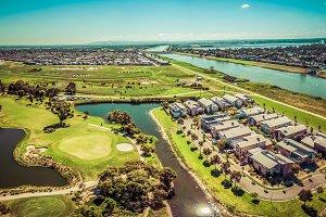 Suburban Australian aerial landscape