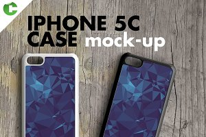 IPHONE 5c CASE MOCK-UP 2d printing