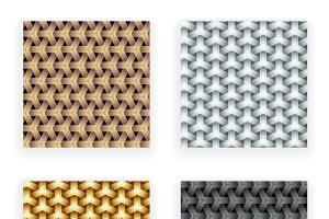 Silver Copper Seamless Patterns