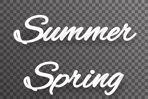 Summer spring shaded text
