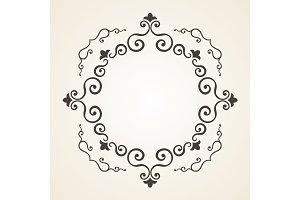 Victorian frame. Vintage design