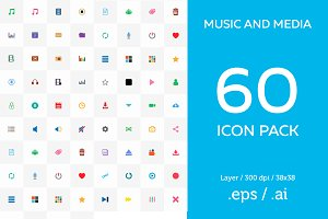 Media Icons Pack - Music Icon Pack