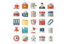 Office and business Flat icons