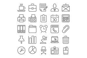 Office and Business outline icons