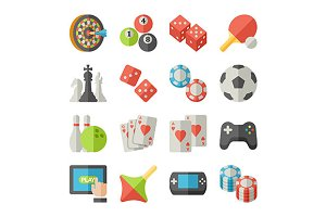 game icons flat icons