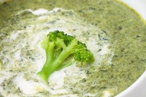 Brocolli cream soup