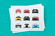 Cars Vector Icons and Illustrations