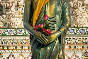 Detail of Buddha's statue