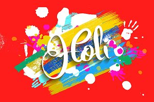 Happy holi fest banners.