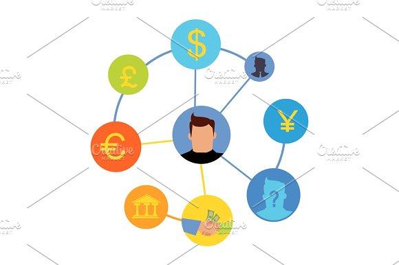 International Currency Exchange Vector Concept