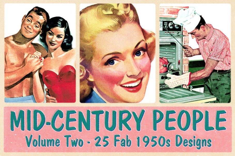 Retro 1950s Illustrations Volume 2 ~ Illustrations ~ Creative Market